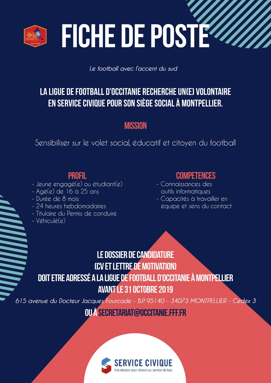 Recrutement Service Civique Ligue De Football D Occitanie